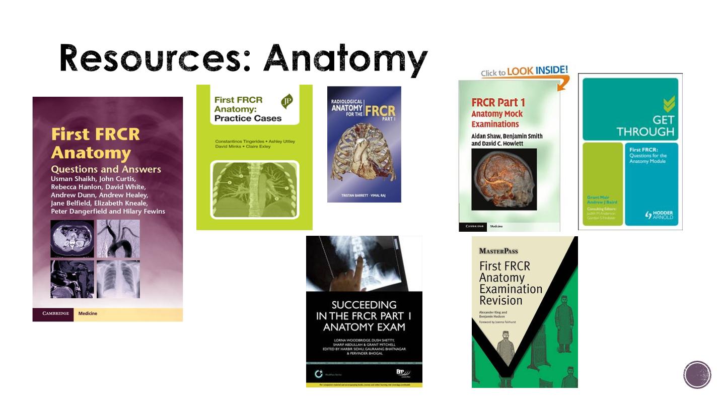 First FRCR Resources | West of Scotland Radiology